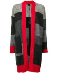 Pinko - Long Striped Cardigan - Lyst