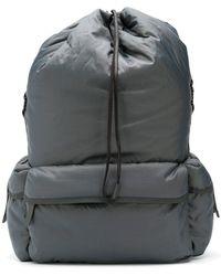 1f7b724409 Jil Sander Buckle Slouchy Backpack in Green for Men - Lyst