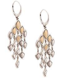 John Hardy - 18kt Yellow Gold And Sterling Silver Naga Chandelier Earrings - Lyst