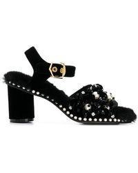 Suecomma Bonnie - Faux Fur Embellished Sandals - Lyst