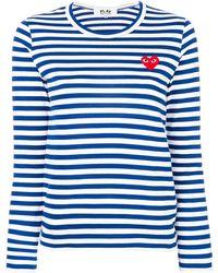 COMME DES GARÇONS PLAY T-shirt - Blauw