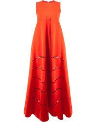 cb8145193889c Maison Rabih Kayrouz Strapless Silk Column Dress in Black - Lyst