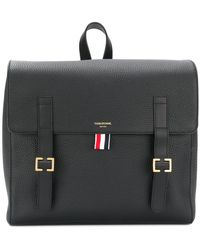 Thom Browne - Unstructured Book Bag In Tumbled Calf Leather - Lyst