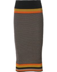 Osklen - Striped Knitted Skirt - Lyst