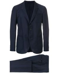 Ferragamo - Striped Single-breasted Suit - Lyst