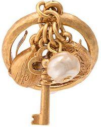 0228a046b69 Oscar de la Renta - Key Ring With Pearl Embellishment - Lyst