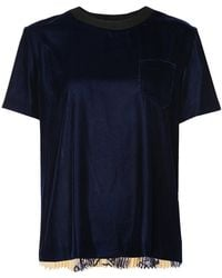Sacai - Plissé Pleated T-shirt - Lyst