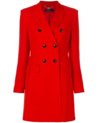 Marc Cain - Slim Double-breasted Coat - Lyst