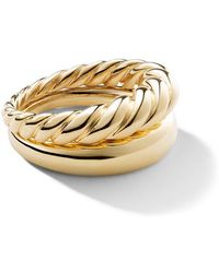 David Yurman - 18kt Yellow Gold Pure Form Stack Rings - Lyst