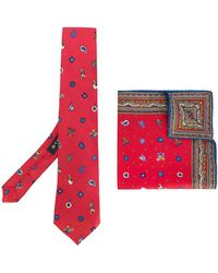 Etro - Christmas Print Tie And Pocket Square Set - Lyst