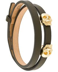 Northskull - Skull Embellished Bracelet - Lyst