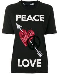 Love Moschino - Peace Love T-shirt - Lyst