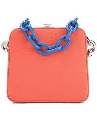 the VOLON - Chain Clasp Bag - Lyst