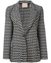 Erika Cavallini Semi Couture | Zig-zag Pattern Blazer | Lyst