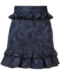 C/meo Collective - Ruffled Floral Skirt - Lyst