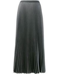Prada Pleated A-line Skirt - Gray