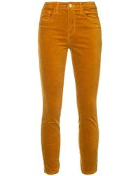 L'Agence - Cropped Jeans - Lyst