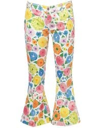 The Seafarer - Printed Cropped Jeans - Lyst
