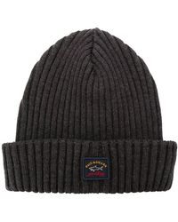 Paul & Shark - Ribbed Knitted Beanie - Lyst