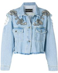 Marco Bologna - Distressed Embellished Jacket - Lyst