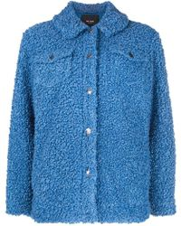Twin Set - Buttoned Shearling Jacket - Lyst