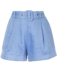 Suboo - Belted Waist Shorts - Lyst