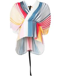 TOME - Pleated Wrap Top - Lyst
