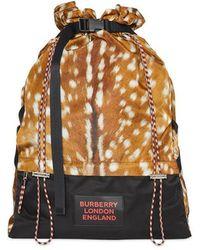 Burberry - Rucksack mit Reh-Print - Lyst