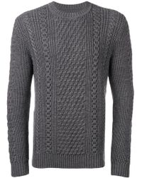 Edwin - Cable Knit Sweater - Lyst