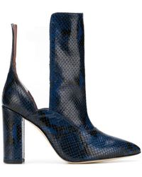Paris Texas - Contrast Pointed Boots - Lyst