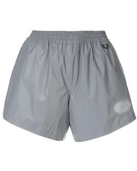 e14a9660a8041 Lyst - we11done Logo Sweat Shorts in Gray