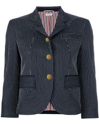 Thom Browne - Embroidered Flannel Sport Coat - Lyst