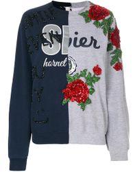 Night Market - Contrast Sweatshirt - Lyst