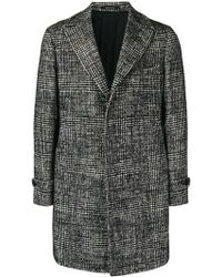 Tagliatore - Single-breasted Houndstooth Coat - Lyst