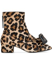 N°21 Leopard Print Pony Hair Ankle Boots
