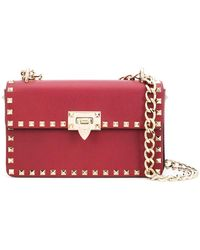 Valentino - Small Garavani Rockstud Shoulder Bag - Lyst