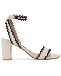 Tabitha Simmons - Nude Black Leticia Heeled Sandals - Lyst