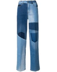 Notify - Wide Patchwork Jeans - Lyst