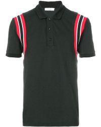Valentino - Stripe Shoulder Polo Shirt - Lyst