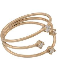 Zoe Chicco - 14kt Yellow Gold 3 Thin Band Mixed Prong Diamond Ring - Lyst