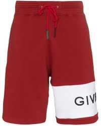 Givenchy - Logo Band Cotton Track Shorts - Lyst