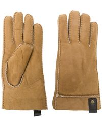 UGG - Leather Trim Gloves - Lyst