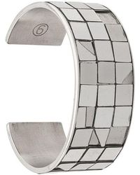 MM6 by Maison Martin Margiela - Mirrored Panelled Bangle - Lyst