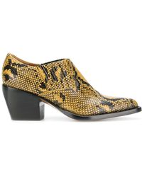 Chloé - Snake Printed Boots - Lyst