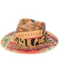 Etro - Printed Straw Hat - Lyst