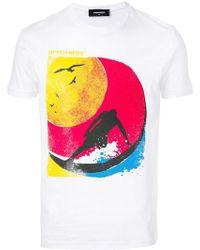 DSquared² - T-Shirt mit Surfer-Print - Lyst