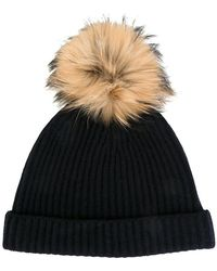 N.Peal Cashmere - Cashmere Ribbed Beanie - Lyst