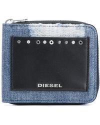 DIESEL - Front Logo Patched Wallet - Lyst