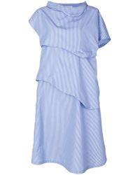 Societe Anonyme - 3d Pinstripe Dress - Lyst