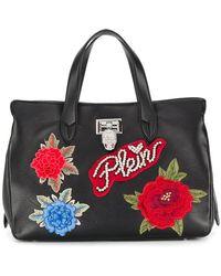 Philipp Plein - Floral Appliqué Tote Bag - Lyst